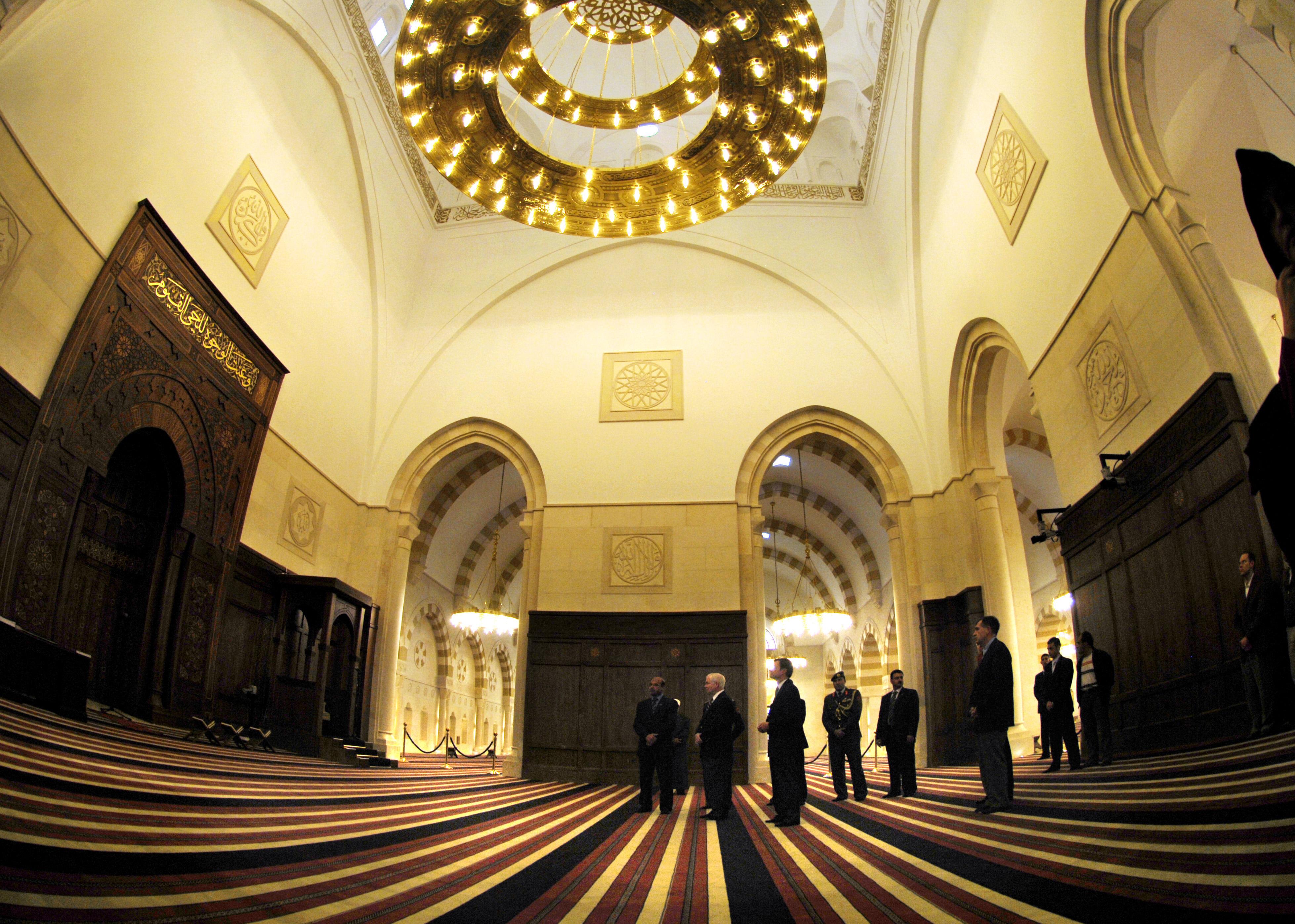 Gebetsraum King Hussein bin Talal Moschee in Amman